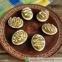 Snack aux œufs simple avec pâté aux champignons