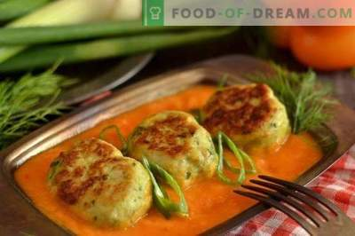 Meatballs in the oven with a gravy of vegetables