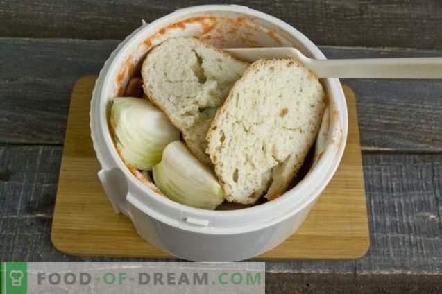 Boulettes de viande à la tomate et au jus de poivron