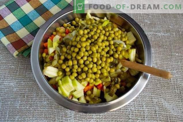 Vinaigrette aux pommes et à la choucroute - délicieuse salade à jeun
