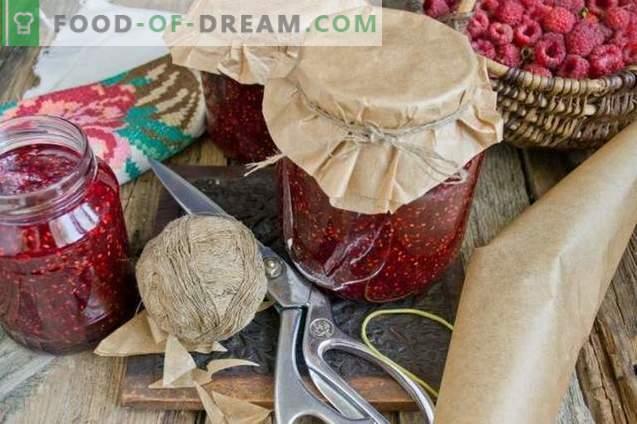 Confiture de framboises pour l'hiver en 10 minutes