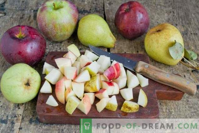Taart met peren en appels - herfstthee dessert