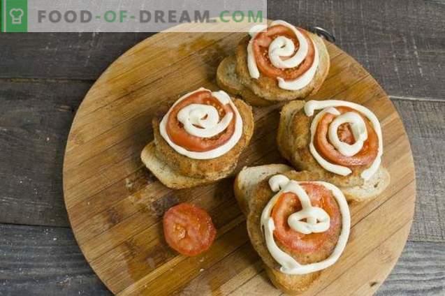 sandwichs chauds avec des boulettes au four