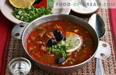 Solyanka de chou frais, légume, avec viande, poulet, ragoût