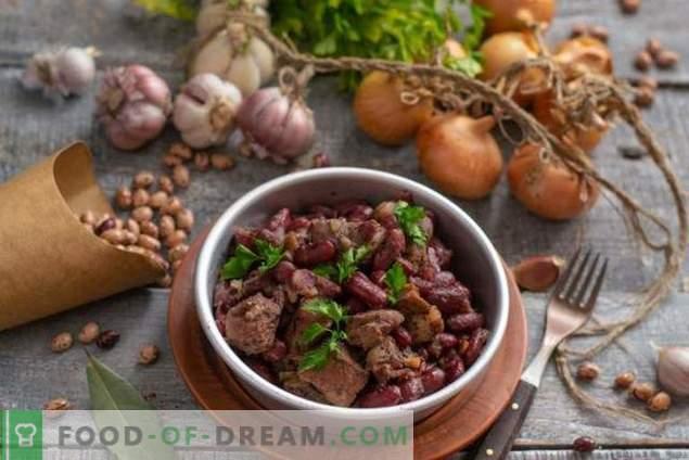 Ragoût épicé aux haricots et au vin rouge pour le dîner du dimanche