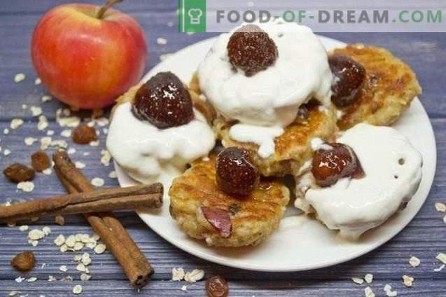 Cheesecakes à l'avoine et aux pommes