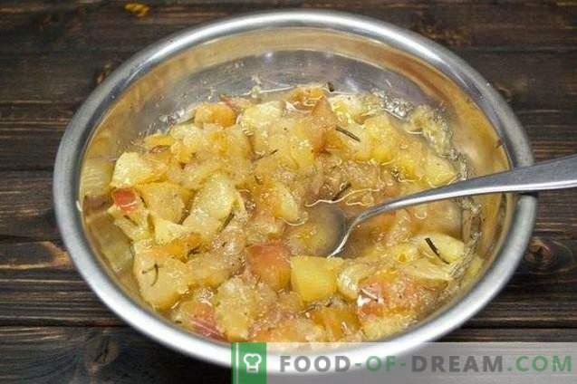 Confiture de fruits contre le rhume avec le romarin et le gingembre