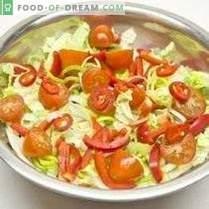 Salade de légumes à la vinaigrette citron-oignon