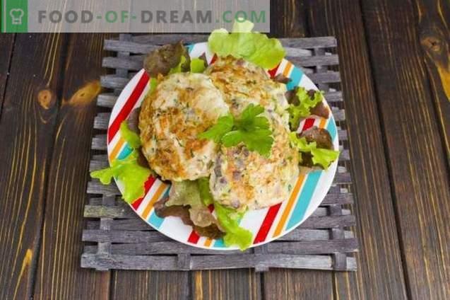 Côtelettes de poulet aux champignons et aux courgettes