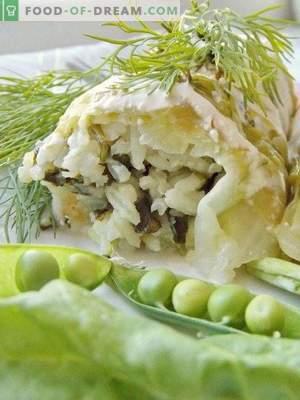 Involtini di cavolo con spinaci