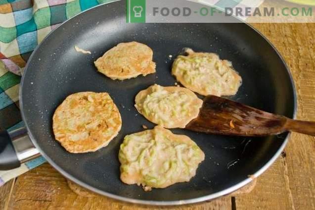 Escalopes de courgettes avec accompagnement pour un dîner rapide