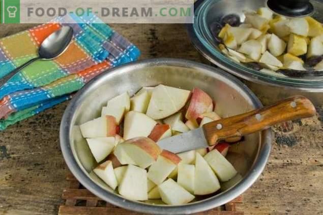 Confiture de poires et de prunes - la plus facile à préparer