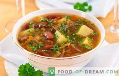 Soupe aux haricots et à la viande: comment cuisiner une délicieuse soupe aux haricots? Recettes simples pour soupe aux haricots et à la viande