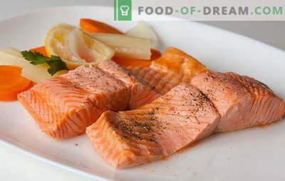 Saumon rose doux et juteux dans une mijoteuse. De merveilleuses recettes de saumon rose dans une mijoteuse: avec des légumes, du riz, des champignons, du fromage