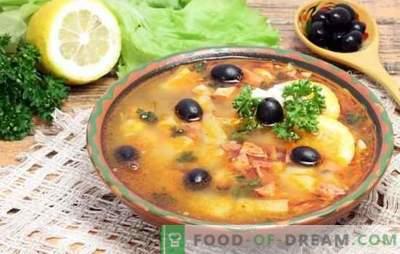 Classique de la viande de Solyanka: recette étape par étape des plats copieux. Secrets et recettes étape par étape pour la préparation d'une aigrette aromatique