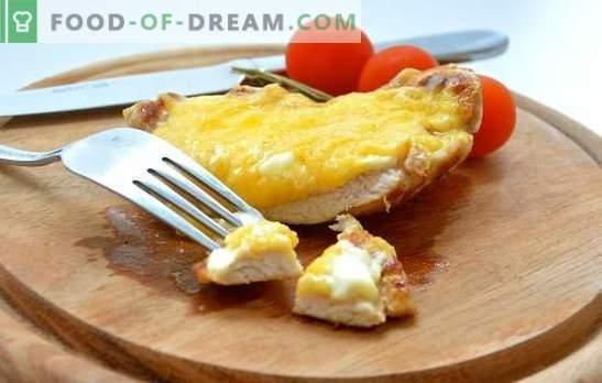 Côtelettes de porc au fromage: êtes-vous classique, avec une pâte ou avec une cerise? Recettes de côtelette de porc au fromage avec les fromages