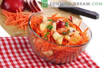 Salade de carottes et pommes - les meilleures recettes. Comment bien et savoureux préparer une salade de carottes et de pommes.