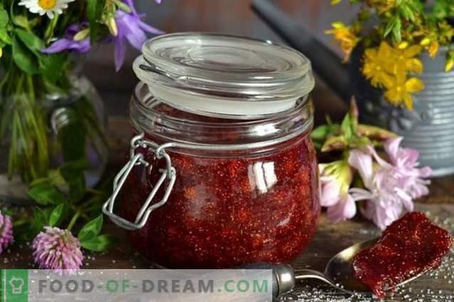 Confiture de fraises des bois avec agar-agar