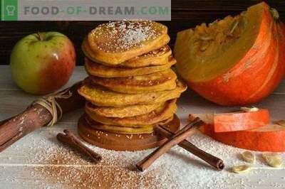 Crêpes à la citrouille et aux pommes