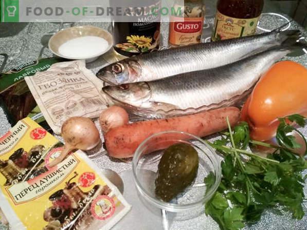Rolmops - rouleaux de hareng au concombre: recette de cuisine avec photo