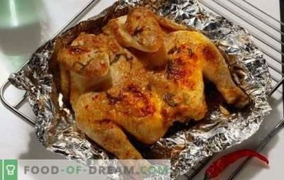 Poulet parfumé et juteux en papillote au four - rapide, simple et savoureux. Cuisson du poulet au papier d'aluminium au four - recettes étape par étape