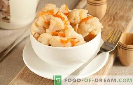 Карфиол во корејски стил е зачинета закуска за било која гарнитура! Маринира карфиол на корејски со моркови или домати