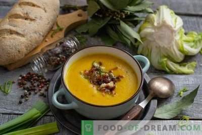 Velouté de chou-fleur aux lardons - couleur vive et goût