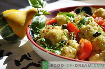 Salată de conopidă - cele mai bune rețete. Cum sa faci salata de conopida bine pregatita si gustoasa.