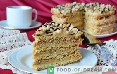 Air Snickers Cake - dessert meringuée croustillant! Recettes de gâteaux aériens à partir de biscuits, de biscuits et de sablés