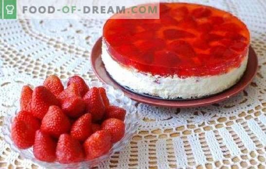 Gâteau au fromage et à la gelée - le meilleur dessert sans cuisson! Recettes à la vanille, aux fruits, au fromage cottage au chocolat et aux gâteaux à la gelée