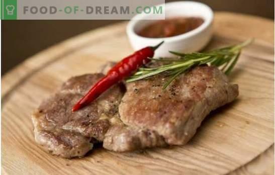 Escalope de porc - un vrai goût de viande! Les meilleures recettes de coquilles Saint-Jacques de porc au grill, au four et à la poêle