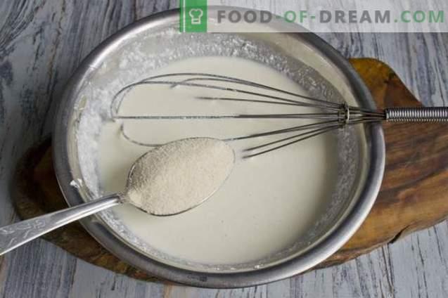Casserole de fromage cottage avec semoule