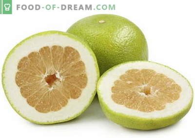 Pomelo - description, propriétés utiles, utilisation en cuisine. Recettes avec pomelo.