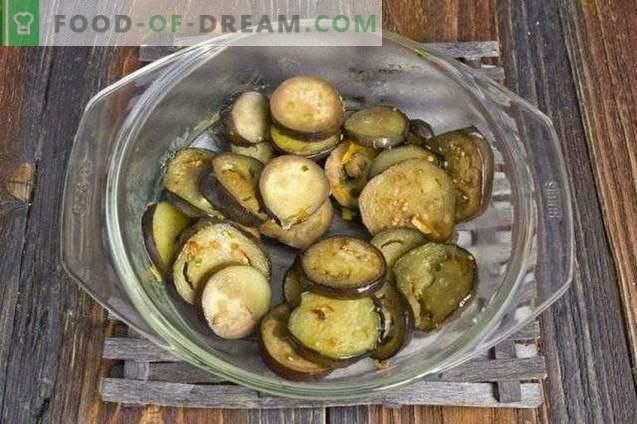 Assiette de légumes de poivrons farcis aux aubergines pour l'hiver