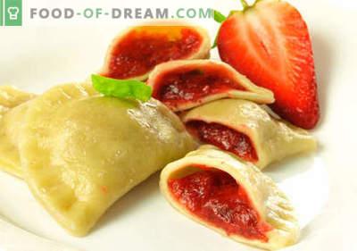 Dumplings with strawberries - les meilleures recettes. Comment bien et savoureux cuire des boulettes de fraises à la maison.