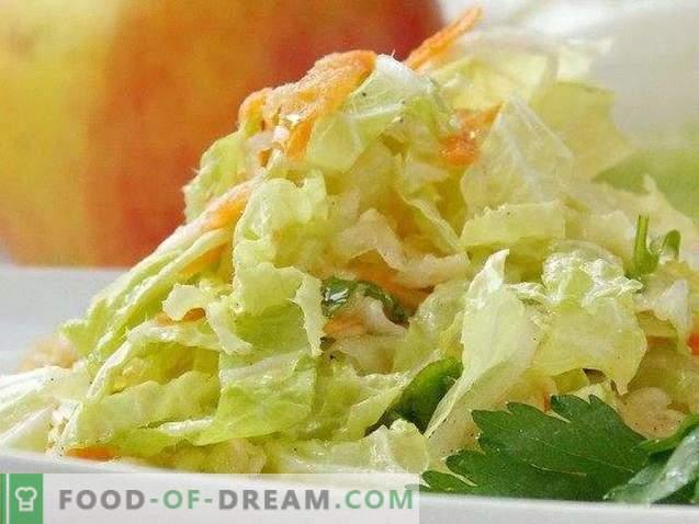 Salade de chou de Pékin facile