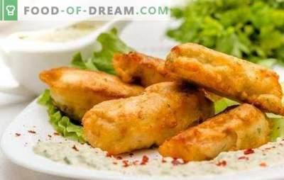 Pâte de poisson aérienne et ajourée, croquante et délicate avec mayonnaise. Recettes pâte simple pour poisson avec mayonnaise pour tous les goûts