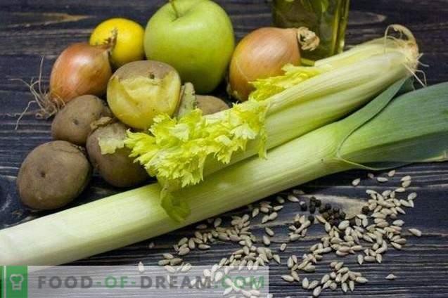Salade de pommes de terre au carême avec céleri et pomme