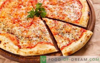 Originelle und verschiedene Varianten der klassischen Margherita-Pizza. Wie macht man Pizza