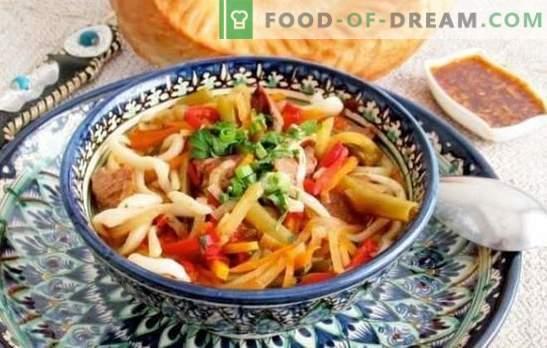 Laghman Classic - un plat enthousiaste! Recettes lagmans classiques de différentes viandes avec pommes de terre, radis, tomates