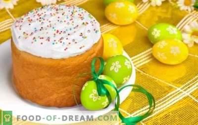 Pâques sur le kéfir: secrets de la cuisson luxuriante. Recettes de levure et de pâte sans levure pour des Pâques luxuriantes au yogourt