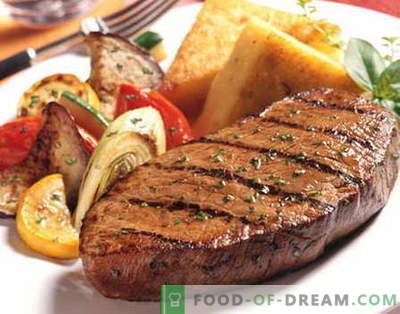 Steak de boeuf - les meilleures recettes. Comment cuire correctement et savoureux steak de boeuf.