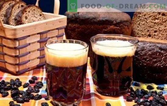 Kvass du pain noir - sombre, copieux, rafraîchissant! Recette Kvass sur pain noir sans levure