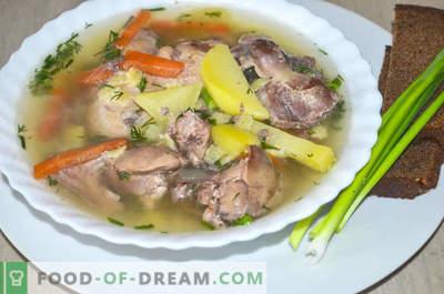 Soupe aux abats de poulet ou comment faire cuire la soupe Gleb Zheglov - recette