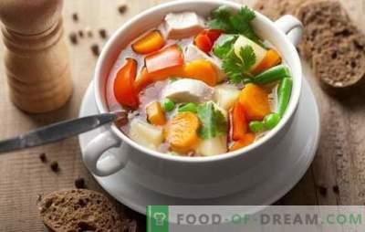 La soupe de légumes au poulet peut être un chef-d'œuvre! Les meilleures recettes de soupe de légumes au poulet avec crème, fromage, gingembre, maïs, citrouille