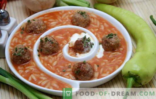 La soupe aux boulettes de viande et au riz est une véritable trouvaille pour un déjeuner savoureux. Recettes de soupes aux boulettes de viande et au riz