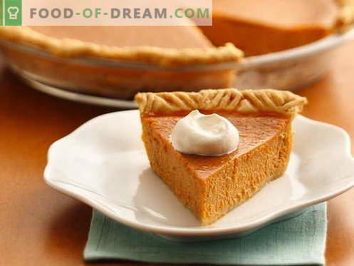 Tarte à la citrouille - les meilleures recettes. Comment bien et savoureux faire cuire une tarte à la citrouille.