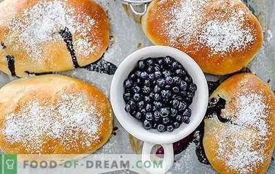 Galettes aux bleuets - pour une grande joie! Recettes de tartes aux myrtilles faites maison: cuites au four et frites