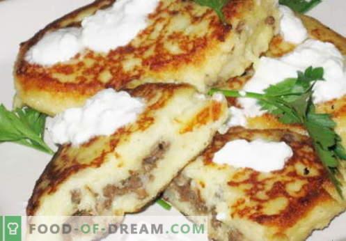 Картофени луди - най-добрите рецепти. Как да правилно и вкусно варени картофи zrazy.