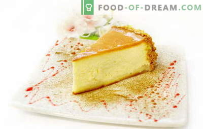 Cheesecake classique - dessert pour tous les desserts! Les meilleures recettes pour un gâteau au fromage classique pour une vie douce: simple et complexe